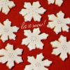 What to do if there's no signs of snow in your neck of the woods? Bake a batch of these deliciously soft snowflake sugar cookies and celebrate winter!