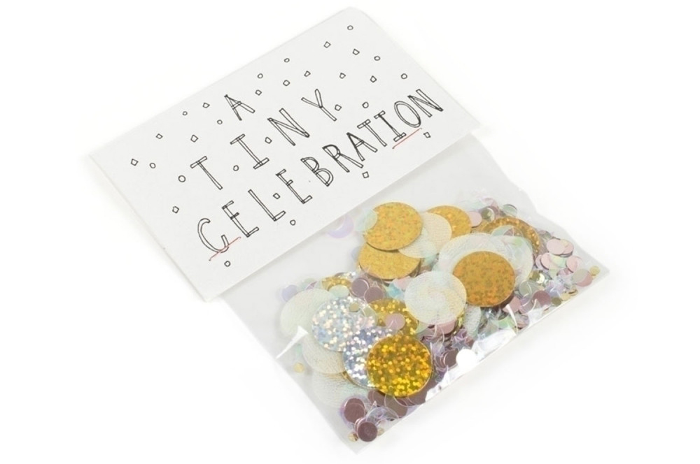 A small collection of my favorite gift wrapping ideas including this mailable bag of confetti by Catbird.