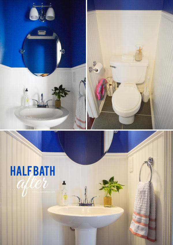My son was afraid of it; I was repulsed. Even after a good cleaning, we wouldn't use the half bath and so we took some major steps to renovate. Click to see what we did to create a more beautiful, inviting and clean bathroom.