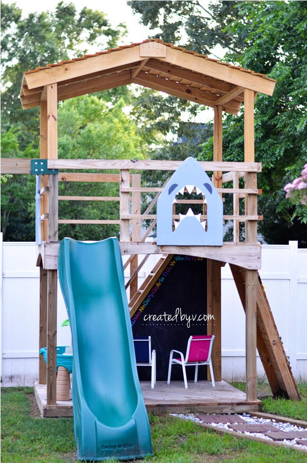 Roof // technical improvements and fun upgrades to our backyard wooden playset