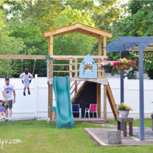 Swings// additional details, photos and resources on how we built our backyard wooden playset