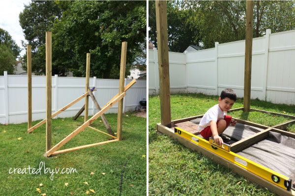 Framing // additional details, photos and resources on how we built our backyard wooden playset