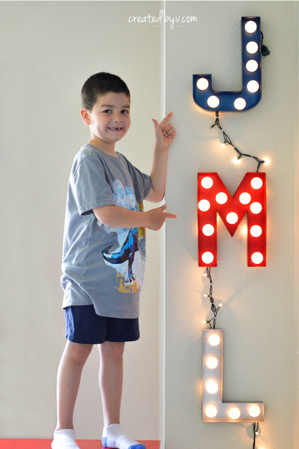 Whether a word, a letter or a monogram, these DIY marquee lights make a fun and easy accessory to any space!