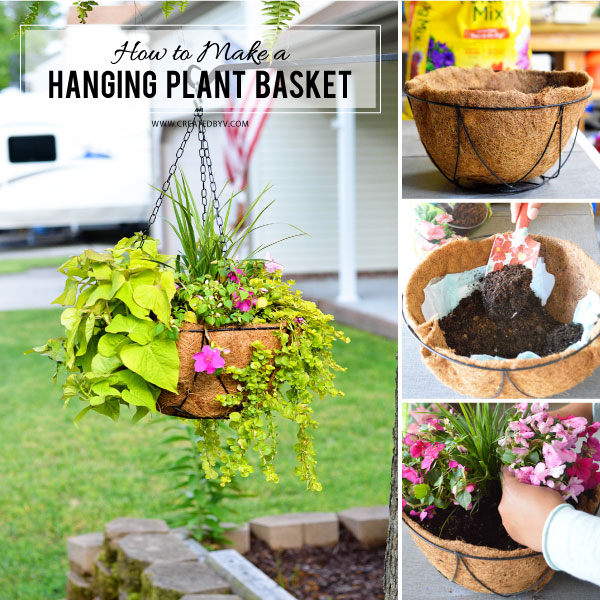 How to Make a Hanging Plant Basket - created by v.