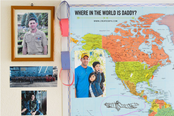 For other military families dealing with deployment, here are a few interactive activities we used in an effort to lessen our kids' separation anxiety and lift their spirits.