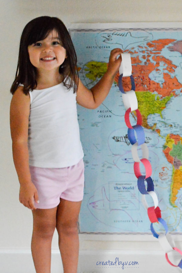 Countdown Chain // For other military families dealing with deployment, here are a few interactive activities we used in an effort to lessen our kids' separation anxiety and lift their spirits.