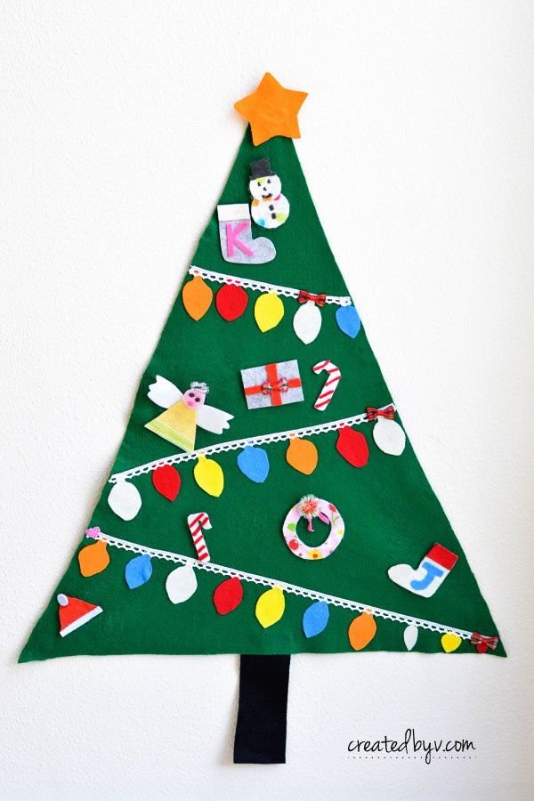 Give the kids some creative license to decorate their very own felt Christmas tree! Super easy to make and a perfect project for craft parties.