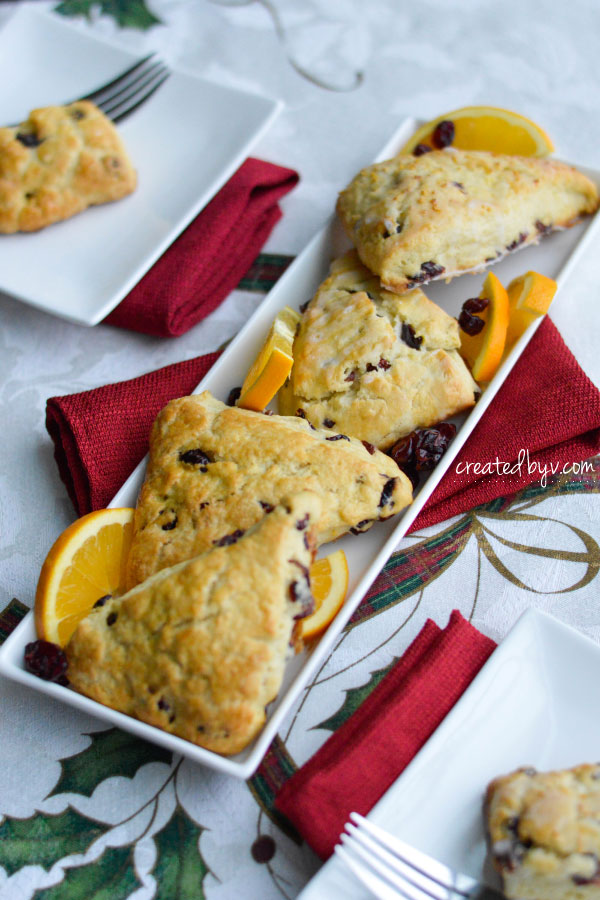 These cranberry orange scones are perfect for a holiday brunch with family or afternoon tea with the ladies.