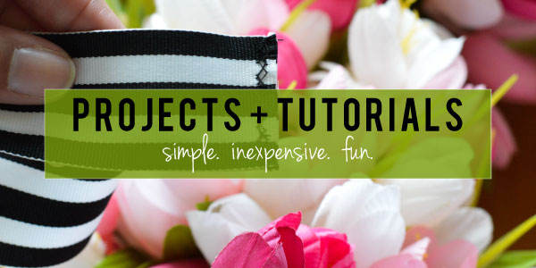 Created by V. // Projects + Tutorials Banner
