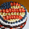 A delicious and refreshing chocolate cake that's perfect for Memorial Day, the Fourth of July and any other patriotic celebration!