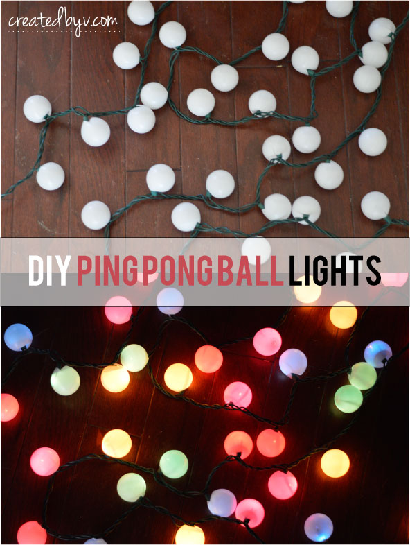 DIY Ping Pong Ball Lights