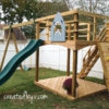 We priced out pre-fab playsets and didn't see one for less than a grand. We also didn't see one we couldn't build ourselves, and so we set out to DIY a better playground for a lot less.