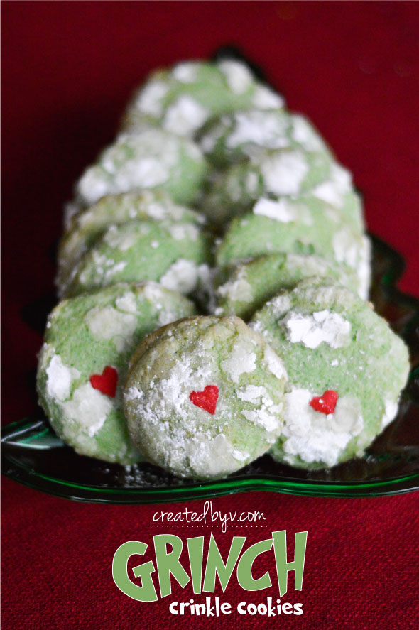 Grinch Crinkle Cookies