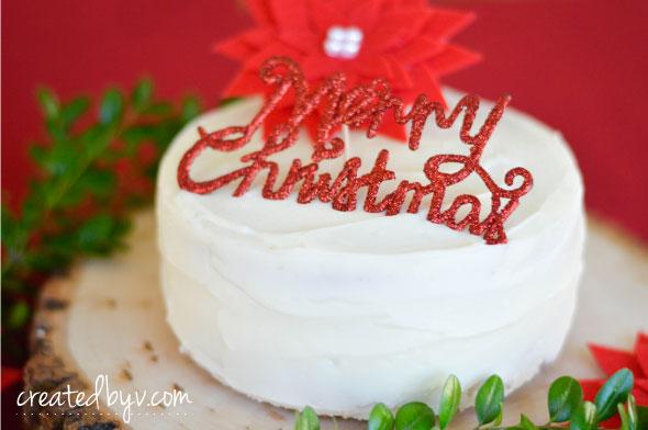 Vanilla Cake with Vanilla Cream Cheese Frosting // www.createdbyv.com