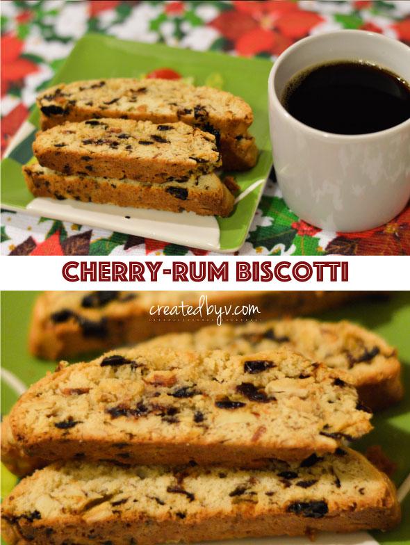 Cherry Rum Biscotti