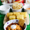 Serve up a tasty lineup alongside V's Super Bowl Chili with homemade cornbread and a plethora of delicious toppings!