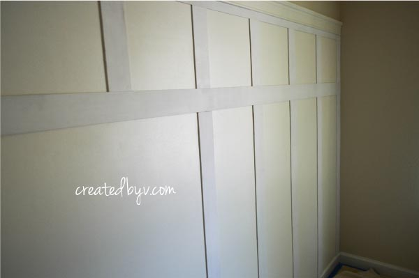 Instantly upgrade the look and feel of your home! Learn how to install a beautiful board and batten wall for less than $100 and over a weekend. Click to view the full tutorial.