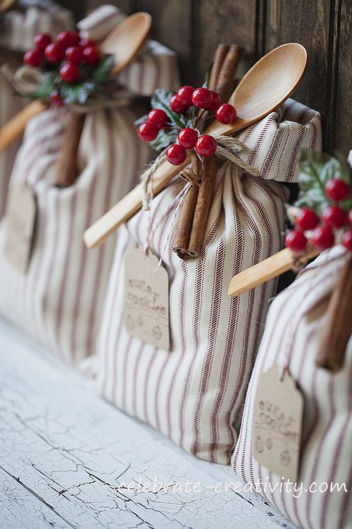A small collection of my favorite gift wrapping ideas including this diy cookie sack by Celebrate Creativity.