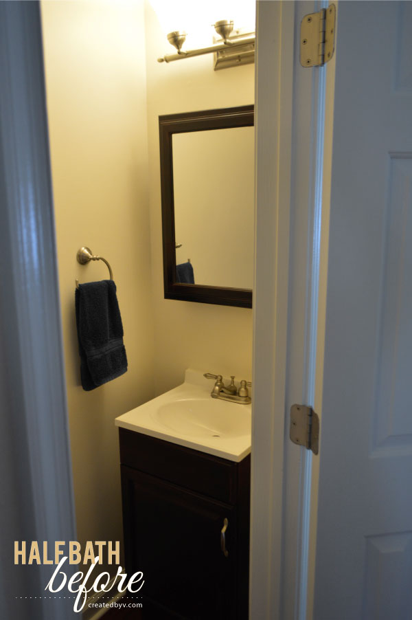 The half bath makeover created by v for Half bathroom cost