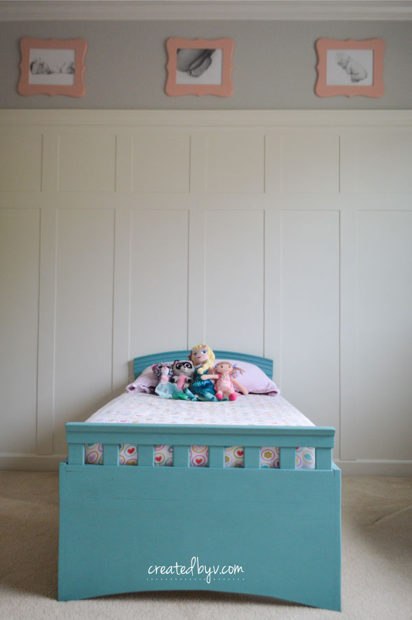 A simple and sweet bedroom with girlish charm and personal touches for an equally sweet little girl.
