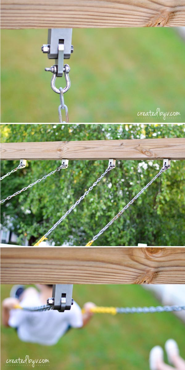 Swing Hardware // technical improvements and fun upgrades to our backyard wooden playset