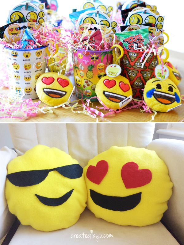 A sensational emoji birthday party for my teenaged niece complete with emoji-themed food, decorations and more! #dontbeapartypooper