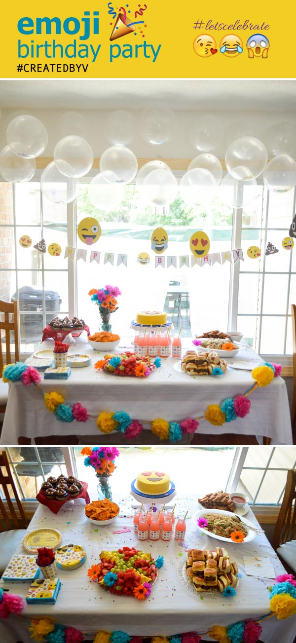 A Sensational Emoji Birthday Party For My Teenaged Niece Complete With Themed Food