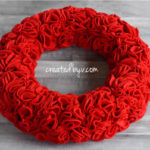 How to Make a Red Ruffle Wreath