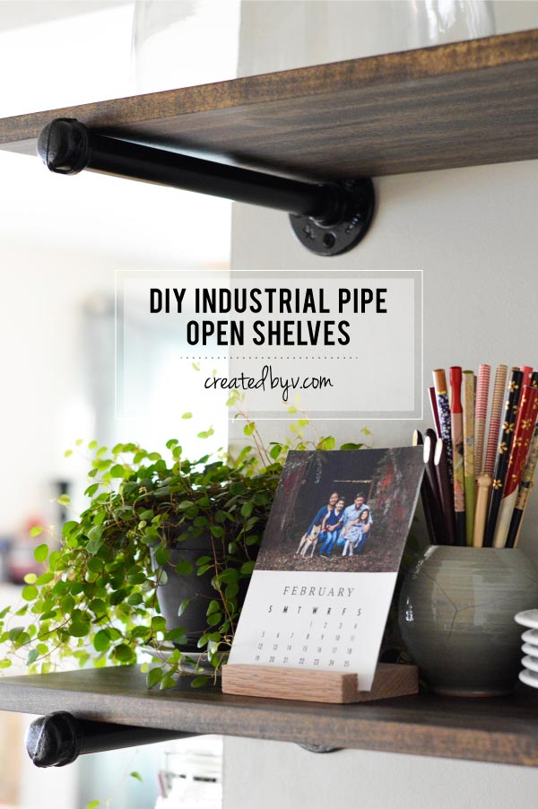 Diy Industrial Pipe Open Shelving Created By V