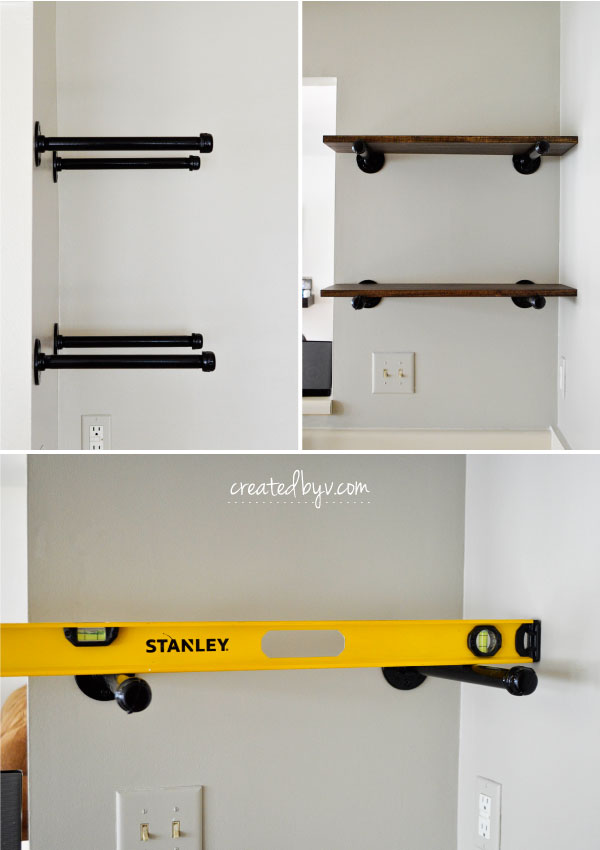 Great how-to and helpful tips for DIY pipe shelves!