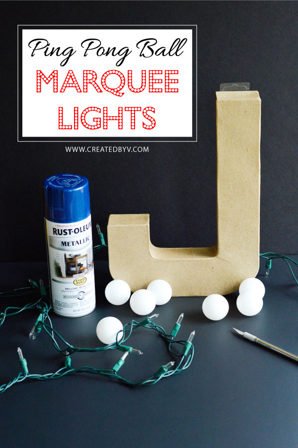 Whether a word, letter or monogram, these DIY marquee lights -- made with ping pong balls and paper mache letters -- bring fun and style to any space!