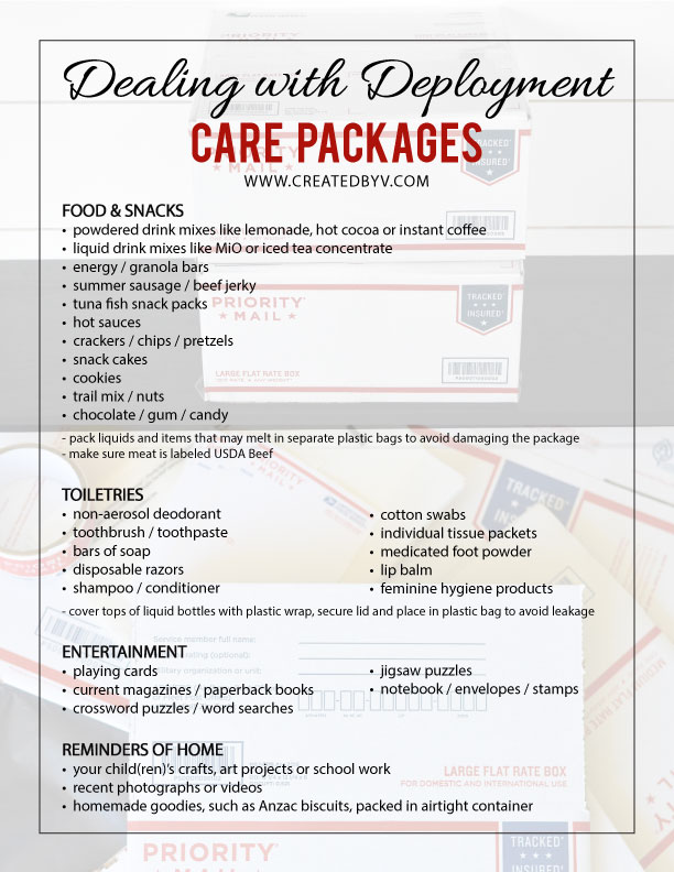 List of what to include. Boost morale, save time and avoid hassles with these tips for sending military care packages.