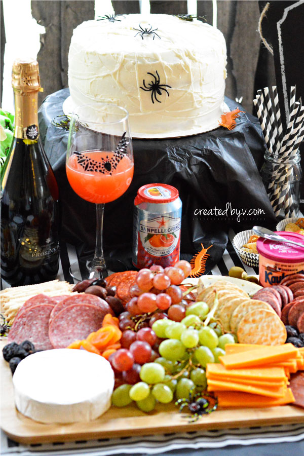 Spooky Spread // Check out this frightfully fun birthday party inspired by Tim Burton's movie, The Nightmare Before Christmas.