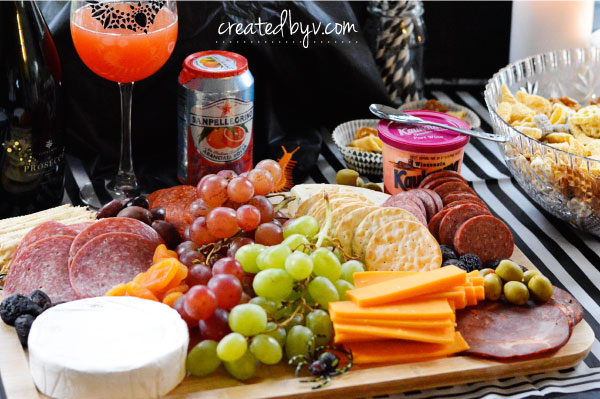 Charcuterie Board // Check out this frightfully fun birthday party inspired by Tim Burton's movie, The Nightmare Before Christmas.