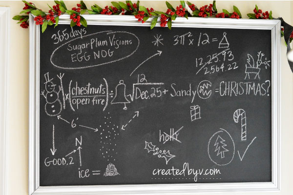 Jack's Chalkboard Christmas Equation // Check out this frightfully fun birthday party inspired by Tim Burton's movie, The Nightmare Before Christmas.