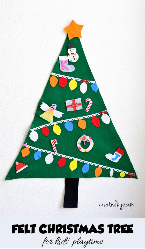 Felt Christmas Tree For Kids Created By V