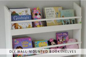 DIY Wall-Mounted Bookshelves