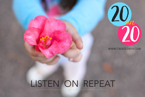 20 on 20 is a playlist of 20 songs released on the 20th of each month. This month features songs that I currently listen on repeat.