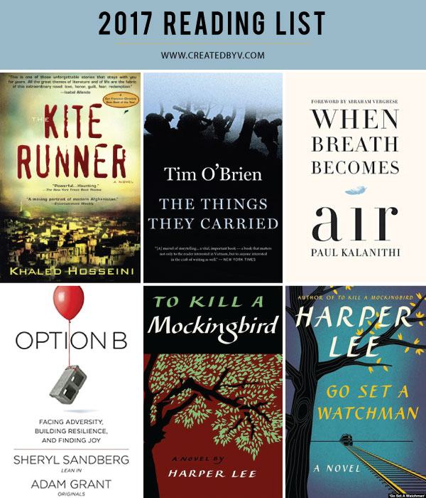 Many moons ago I made a New Year's resolution to read one book per month, which has since turned into my annual reading list. Here are the titles that earned my attention in 2017.