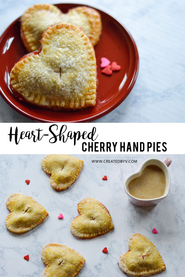 Love from the oven! Darling heart-shaped cherry hand pies are just the right size of sweetness!